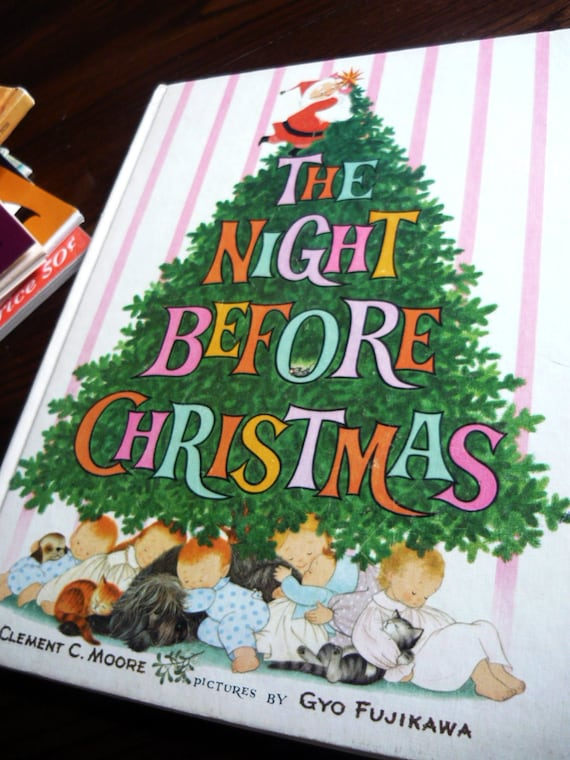 Rare Vintage The Night Before Christmas with Gyo Fujikawa Illustrations fron the 60s