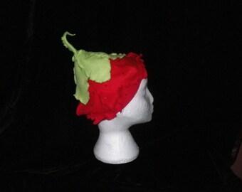 Flower Fairy Red Strawberry Hat