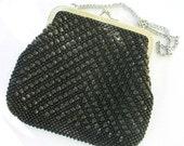 Vintage Fashion, 1960s Black Evening Bag