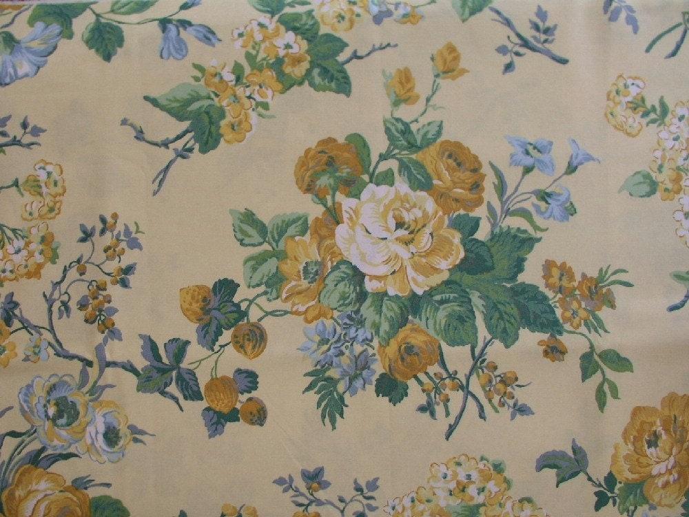 Laura Ashley Floral Fabric Polished Cotton 1 Yard X 1 1 4