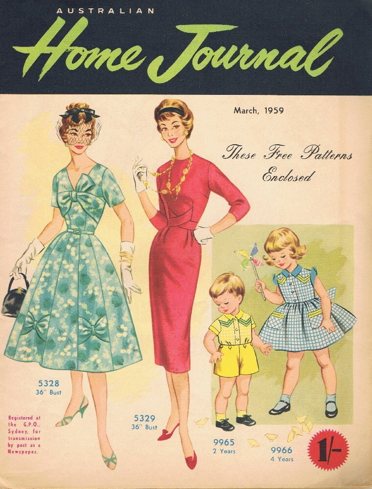 Vintage Sewing Pattern 1959 Fashion Magazine Contains 2