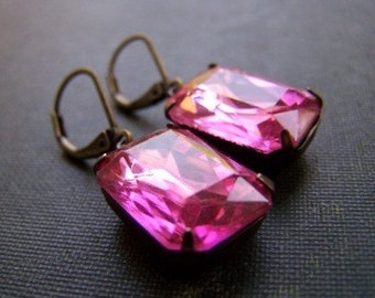 Pretty In Pink - Vintage Glam Earrings
