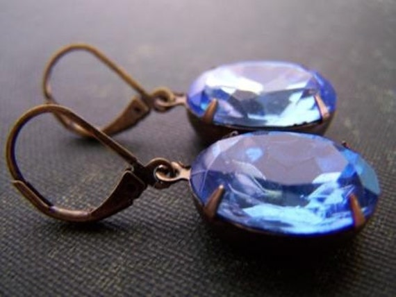 Bijou Blue - Vintage Glam Earrings