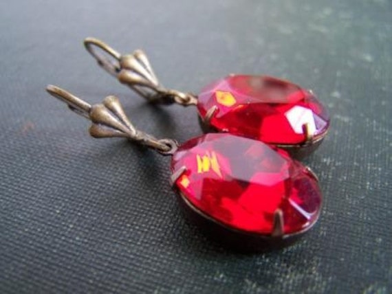 Scarlett...Vintage Glam Earrings