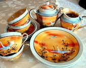 Vintage Antique Estate Early Cr.1906 14pc. Handpainted Tea and Dessert Set Hotta Yu Shoten & Co. Bone China  Shipping RESERVE for Gaye