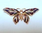 Vintage JBK Butterfly Brooch/Pendant  1975. Modeled after Jaqueline Kennedy's Favorite  Free  Shipping  I Take CREDIT CARDS