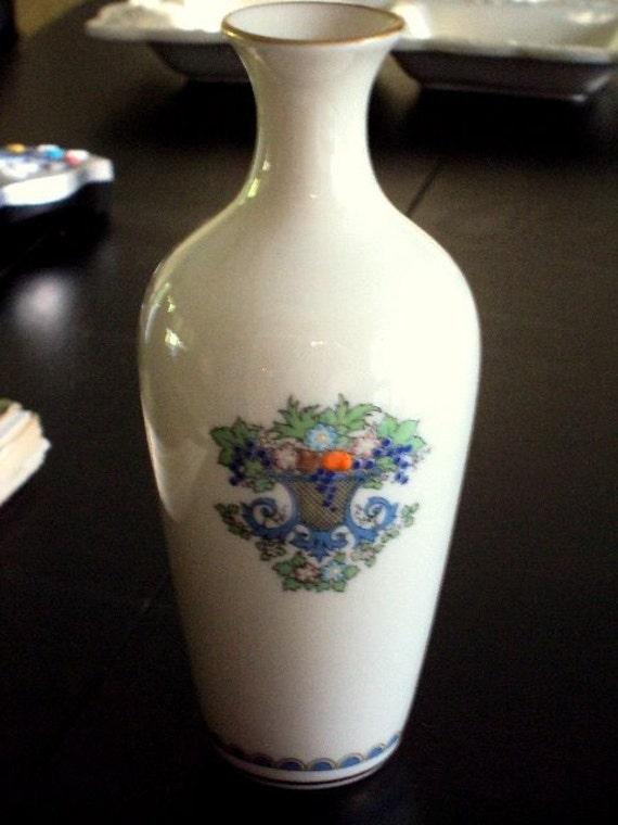 Vintage Lenox Autumn Pattern Bud Vase With 24k Gold Summer