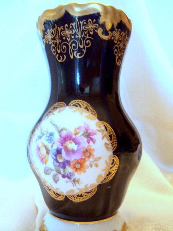 vintage porcelain vase echt weimar kobalt 1940s from german. Black Bedroom Furniture Sets. Home Design Ideas