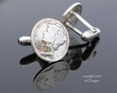 Vintage WWII Era Authentic Mercury Dime Cufflinks