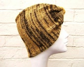 Animal print headband, safari striped turban, knitted hair wrap for women.