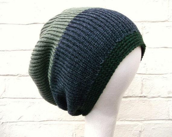 Mens dreadlock hat knitted tam baggy beanie in by missbelluk Dreadlock Hats For Men