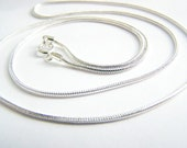 Custom Order - Sterling Silver Snake Chain for Pendant- perfect for everyday wear- bridesmaids and weddings. Upgrade chain or add a pendant