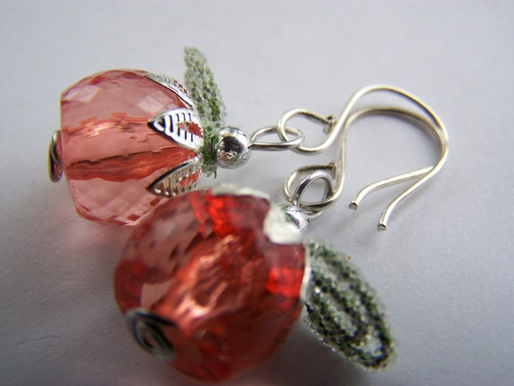 Winter Berry Earrings: Tiny Frosted Fruit