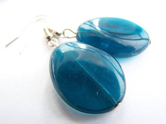 Yummy Blueberry: Lucite Earrings