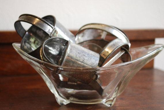 Set of Five Vintage Tin Soldered Metal Cookie Cutters