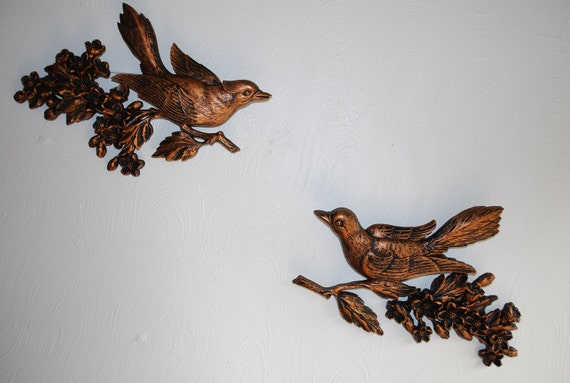 Pair of CopperCraft Bird Wall Plaques