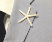 Beach Wedding Starfish Boutonniere, Beach Wedding Lapel Pin, Starfish Lapel Pin, Star fish Boutonniere, Star fish Lapel Pin