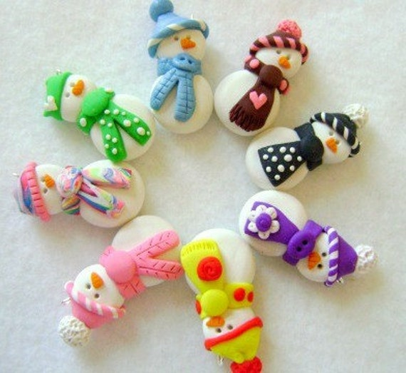 Polymer Clay Snowman Ornament - You Pick!