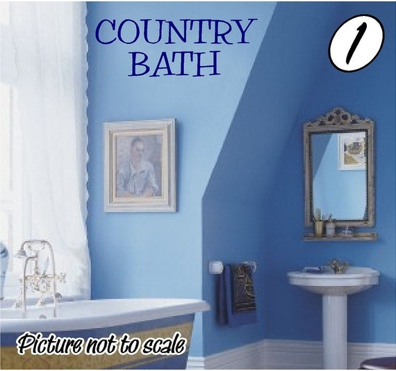 Bathroom Wall Decor Etsy : Items similar to country bath bathroom decor vinyl wall