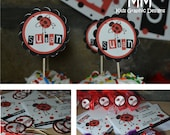 Ladybug Theme - Birthday Custom Package - Set of 20