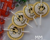 Lollipop Favor Tags - Personalized - Set of 20 - Birthday - Baby Shower - Bee Theme