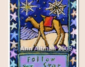 Follow Your Star- greeting card