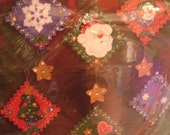 PLAID BUCILLA FELT ORNAMENT KIT - SEASONAL PATCHWORK - NEW