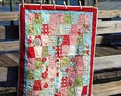 bliss tumbling blocks modern baby quilt