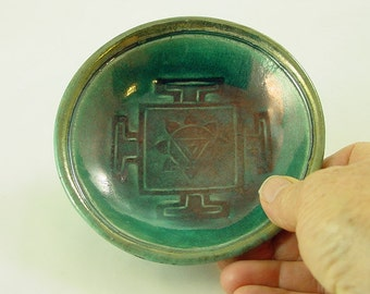RAKU OFFERING BOWL Yantra The Divine Feminine Handmade Pottery