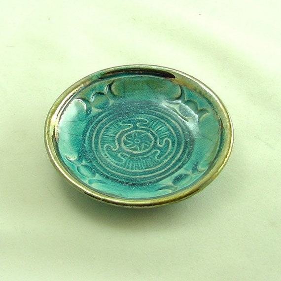 HECATE HEKATE WHEEL Moon Offering Bowl Handmade  Pottery