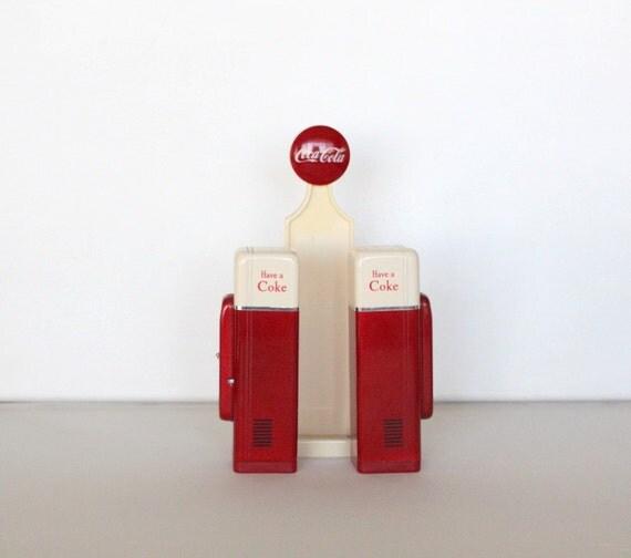 Collectible Coke Coca Cola Retro Coke Machine Salt and Pepper Shaker Set by Uptown Vintage