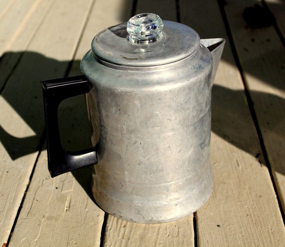 Old Fashioned Drip Coffee Pot 1950's