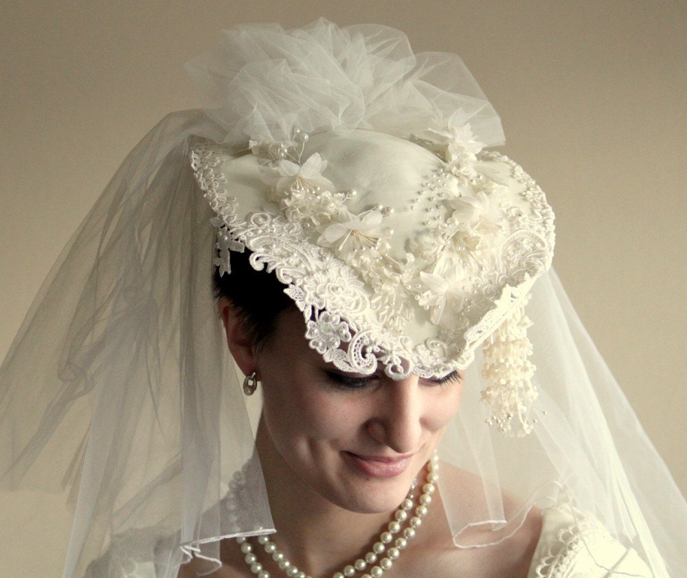 Gorgeous Vintage Wedding Hat By UptownVintage On Etsy