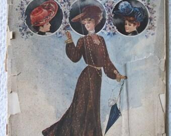 January 1904 The Designer Fashion & Needlework Magazine Edwardian Styles