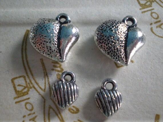 58 pcs Acrylic Heart Bead Charm