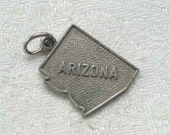Vintage RJL Sterling Arizona State Map Charm
