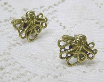 Oxidized Brass Cuff links - STEAMPUNK - Victorian Style - Formal Wear - Wedding