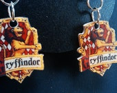 Harry Potter Hogwarts House of Gryffindor Crest Earrings. Now Also Available In Slytherin, Hufflepuff and Ravenclaw.