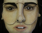 CUSTOM  made portrait in Felt 11x14  (Feltrait) from your personal photo - One Face