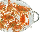 Crab Feast - Gyotaku Fish Rubbing - Limited Edition Print (23.5 x 16)