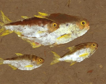 "Gyotaku Fish Rubbing - ""Glitter Bait"" - Limited Edition Print (18 x 10.75)"