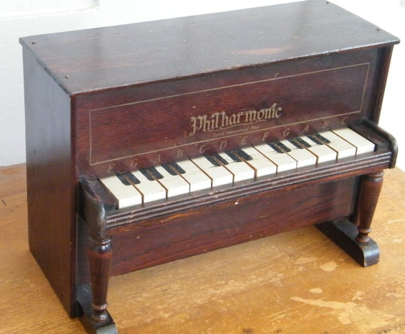 Antique Toy Upright Piano