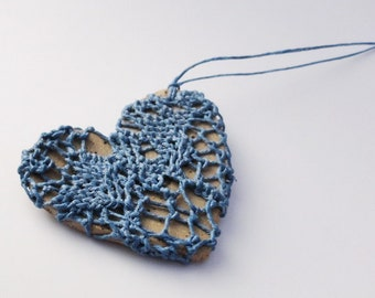 Woven Necklace, blue , i carry your heart with me, HT25