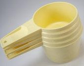 Tupperware Measuring Cups, Buttercream Yellow, Set of (4), Kitchen Housewares, Baking Supplies