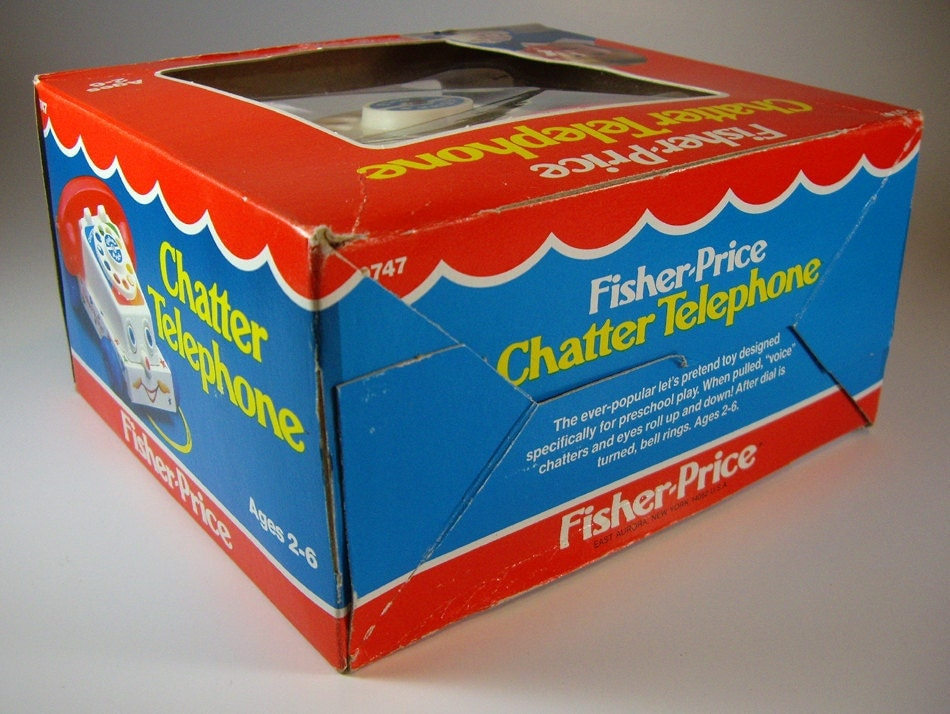 Fisher Price Chatty Telephone Pull Toy 0747 Original Box