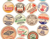 17 Old Early 1940-50's Dairy MILK BOTTLE CAPS or Tops