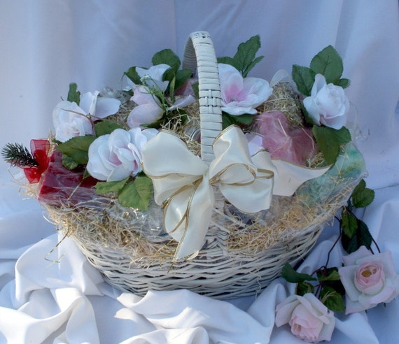 ... Candle Basket with Candle Poem for Bridal Shower or Wedding Gift
