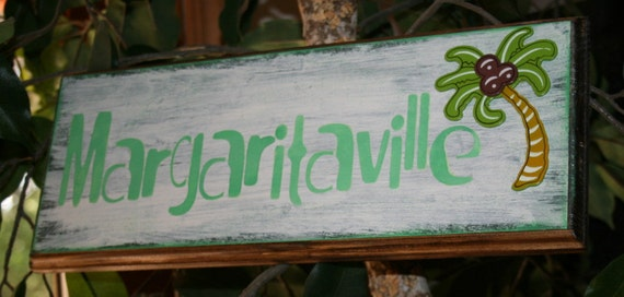 Margaritaville Wooden Bar Sign Bar Or Tropical Decor