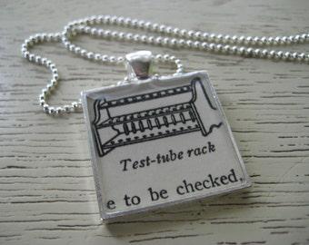 Nice Rack - Test Tube Rack Silver Pendant