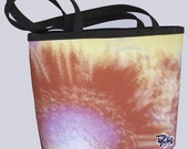 BUCKET BAG - FLORAL - Medium Size - Shown in Burnt Orange Splash image design.